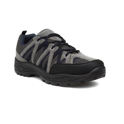 Mens Black & Grey Lace Up Hiking Shoe