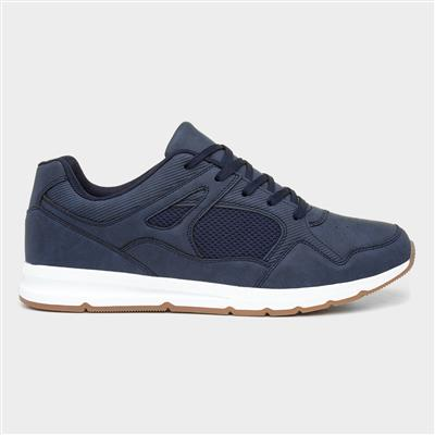 Mens Navy Lace Up Casual Shoes