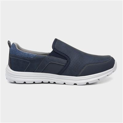 Mens Navy Slip On Shoe