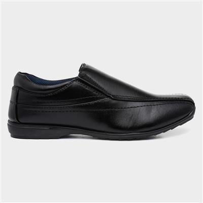 Mens Elasticated Black Slip On Shoe