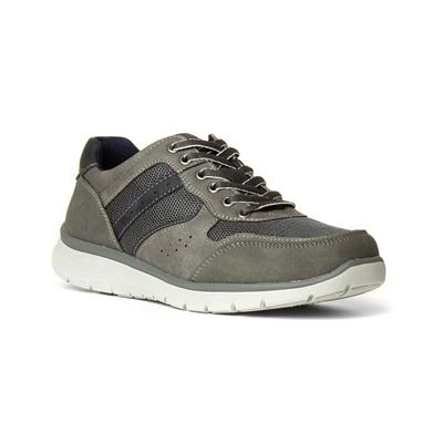 Mens Grey Casual Lace Up Shoe