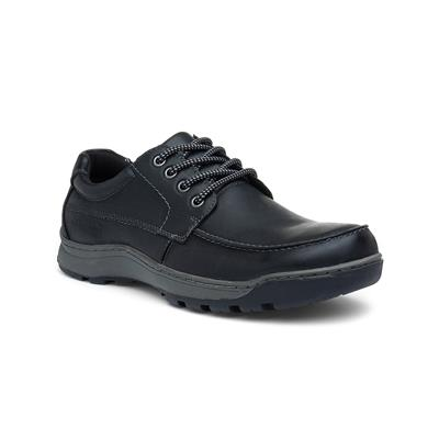 Tucker Mens Leather Shoe in Black
