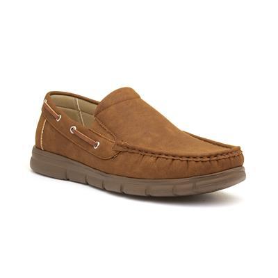 Declan Mens Casual Tan Slip On Shoes