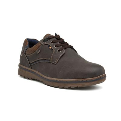 Mens Brown Wide Fit Lace Up Shoe
