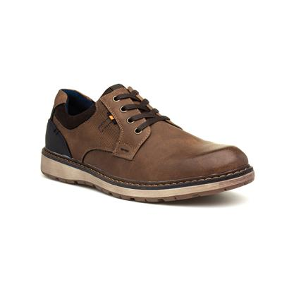Cognac Mens Brown Lace Up Shoe