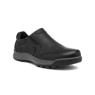 Jasper Mens Black Leather Shoe