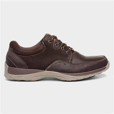 Mens Brown Leather Lace Up Shoe