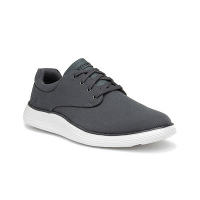 Mens Charcoal Lace Up Casual Shoe