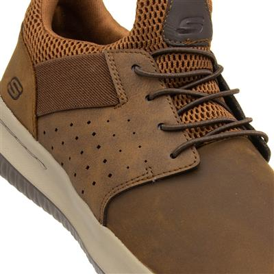 Skechers Mens Brown Lace Up Shoe 52858