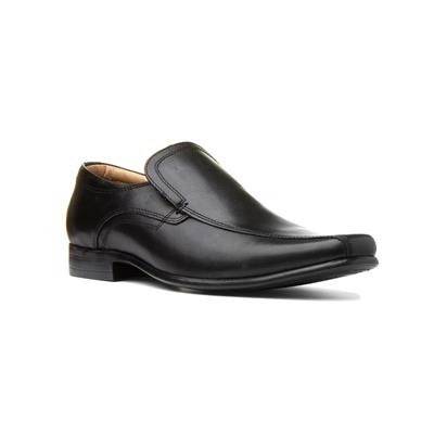 Ulster Mens Leather Slip On Shoe in Black
