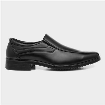 Mens Black Slip On Smart Shoe