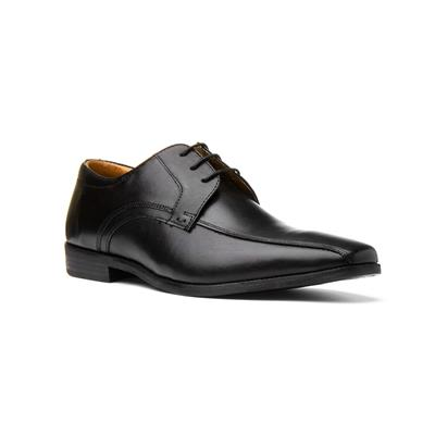 Hutton Mens Lace Up Formal Shoe in Black