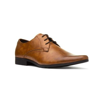 Mens Lace Up Formal Shoe in Tan