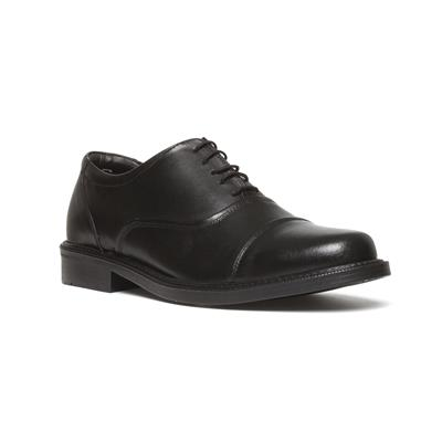 Mens Black Leather Lace Up Shoe