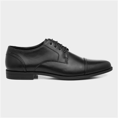 Mens Black Gibson Style Lace Up Shoe