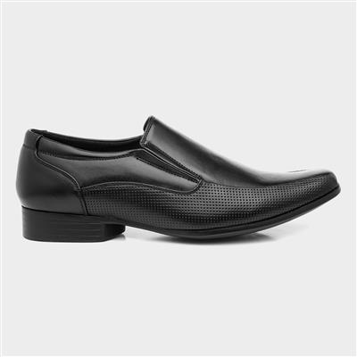 Mens Smart Slip On Shoe in Black