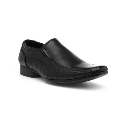 Mens Smart Slip On Shoe in Black