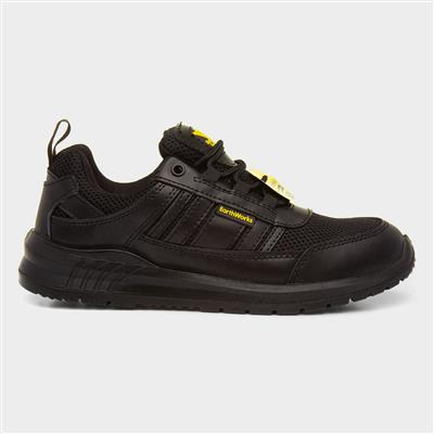Lace Up Safety Shoe in Black