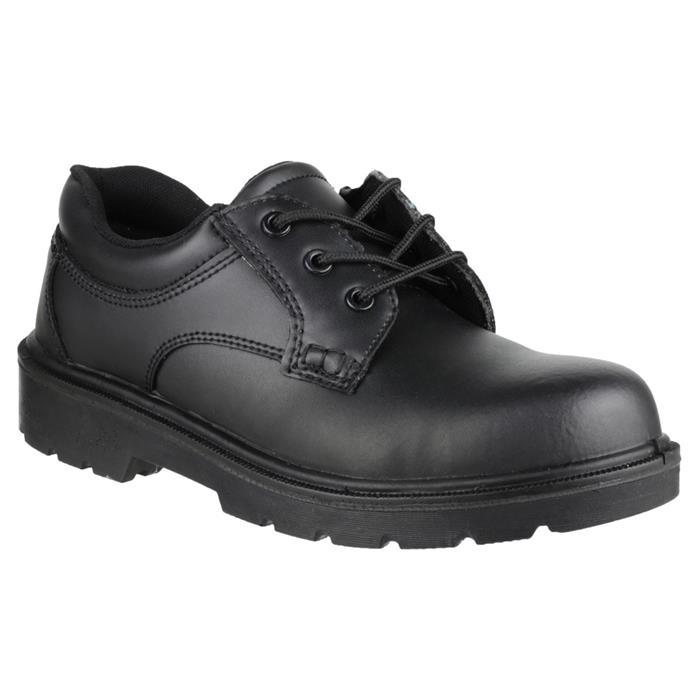 Amblers Safety Unisex Gibson Metal Free Black Shoe