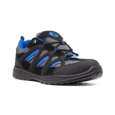Unisex Black Lace Up Safety Shoe