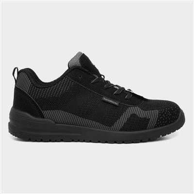 Mens Black & Grey Lace Up Safety Shoe