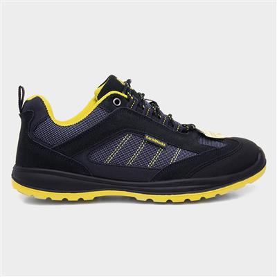 Blue & Yellow Lace Up Safety Shoe