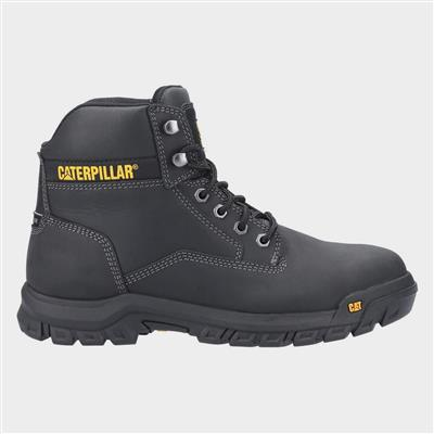 Mens Median S3 Lace Up Safety Boot in Black
