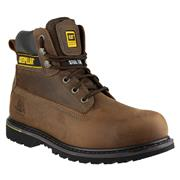 CAT Safety Footwear Mens Lace Up Boot in Brown (Click For Details)