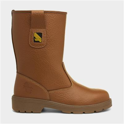 Tan Leather Safety Boot