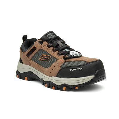 Greetah Unisex Brown Lace Up Safety Shoe
