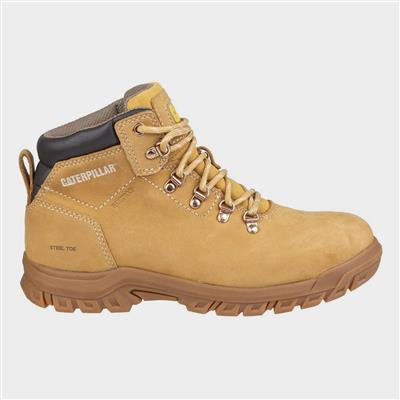 Womens Mae Lace Up Safety Boot in Honey