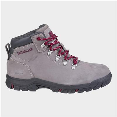 Womens Mae Lace Up Safety Boot in Grey