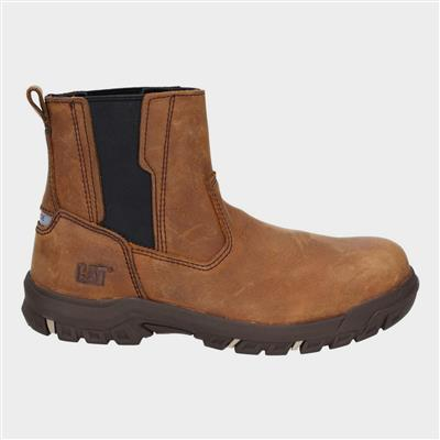 Womens Abbey Slip On Safety Boot in Brown