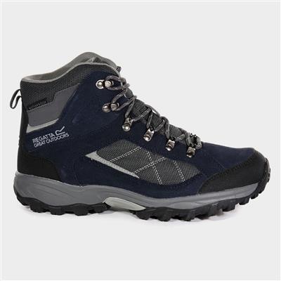 Clydebank Mens Navy Waterproof Hiking Boot