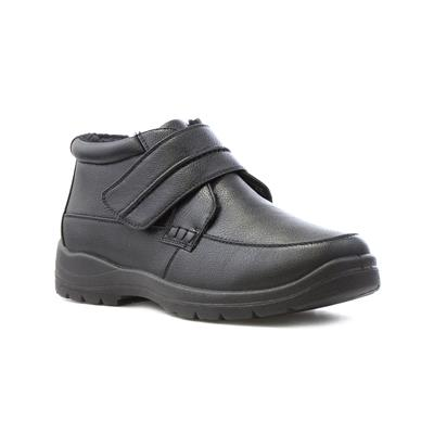 Mens Black Easy Fasten Casual Boot