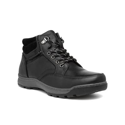 Grover Mens Black Leather Boot