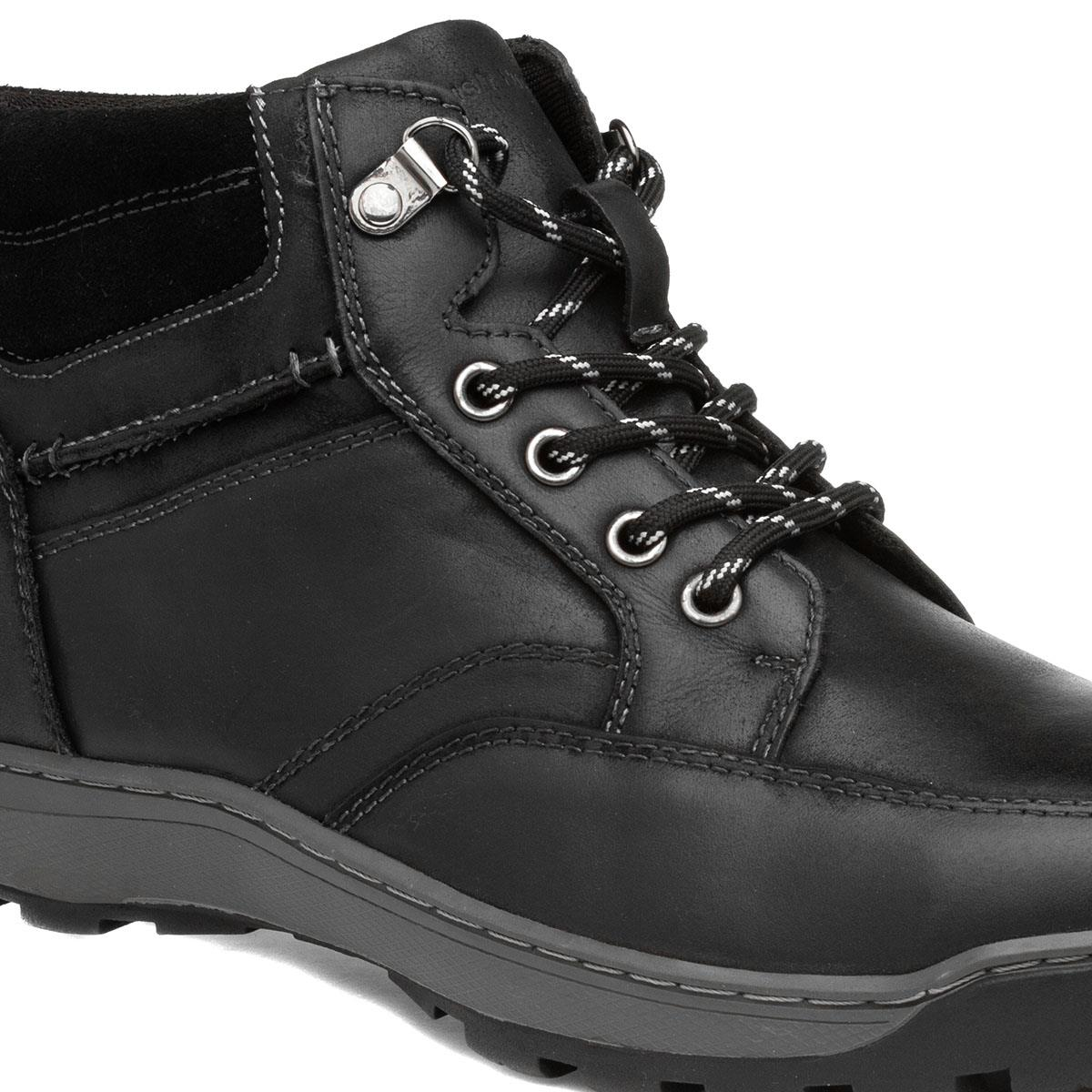Hush Puppies Grover Mens Black Leather Lace Up Desert Chukka Boots Size 8-14