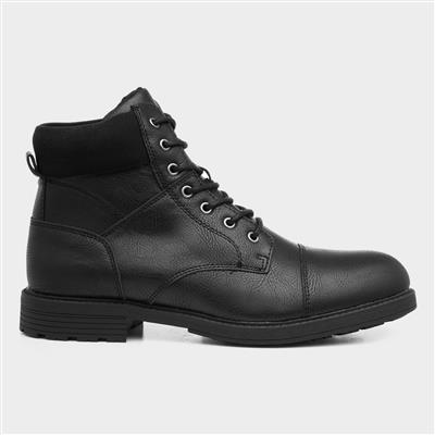 Mens Lace Up Boot in Black