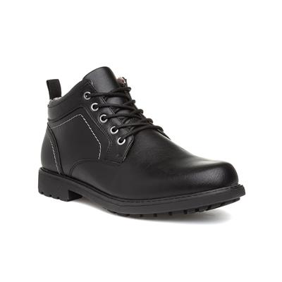 Mens Black Lace Up Ankle Boot