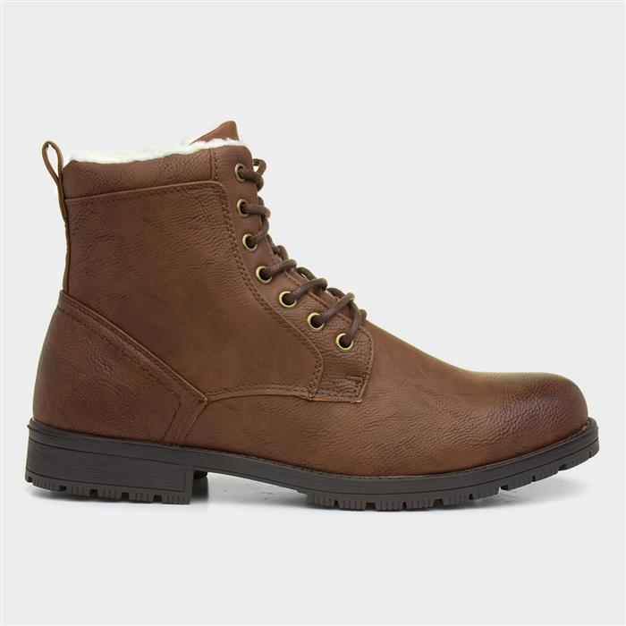 1920s Style Mens Shoes | Peaky Blinders Boots Urban Territory Mens Brown Zip Up Boots £19.99 AT vintagedancer.com