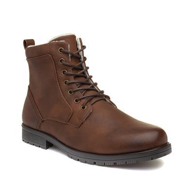 Mens Brown Zip Up Boots