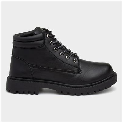 Mens Black Lace Up Boot