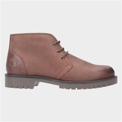 Mens Stroud Lace Up Shoe Boot in Tan