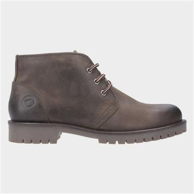 Mens Stroud Lace Up Leather Boot in Brown