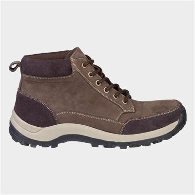 Mens Slad Lace Up Boot in Brown