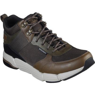 Mens Metco Mid Top Lace Up Shoe in Khaki