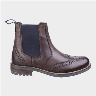 Mens Cirencester Leather Boot in Brown