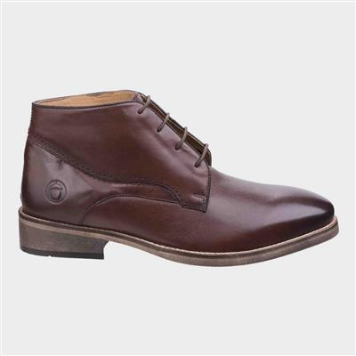 Mens Maugesbury Brown Leather Ankle Boot