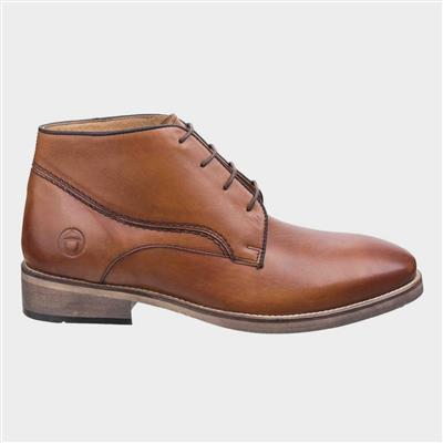 Mens Maugesbury Leather Tan Ankle Boot