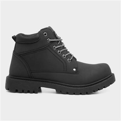 Mens Lace Up Black Boot